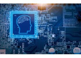 人脑创意大数据信息化科技芯片背景