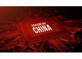 创意中国制造大数据信息化科技芯片背景