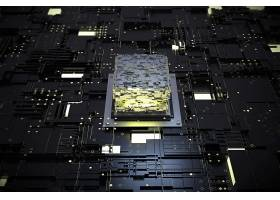创意大数据信息化科技芯片背景