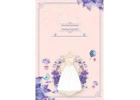 结婚季婚纱背景模板