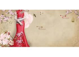 结婚季古典新娘背景模板