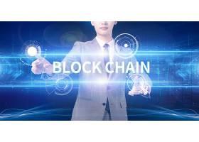 深色互联网信息化区块链科技创意商务背景