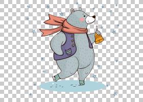 北极熊可爱,手,画熊PNG剪贴画水彩绘画,哺乳动物,用户界面设计,动
