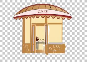 巴黎,精美的咖啡店PNG剪贴画户外结构,咖啡店,咖啡,卡通,封装Post