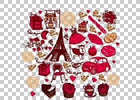 巴黎皇室,巴黎元素材料PNG剪贴画爱,摄影,心,生日快乐矢量图像,圣