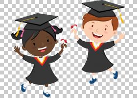 毕业典礼学前幼儿园,学校PNG剪贴画孩子,公共关系,男孩,卡通,免版