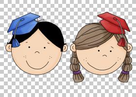 毕业典礼广场学术帽学校,学校PNG剪贴画孩子,脸,男孩,头,卡通,虚