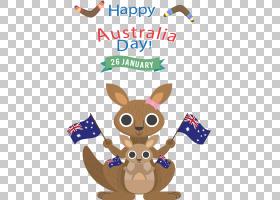 澳大利亚日袋鼠T恤墙贴花,澳大利亚旅行PNG剪贴画carnivoran,狗像