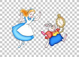 爱丽丝梦游仙境白兔Tweedledum疯帽子,爱丽丝梦游仙境PNG剪贴画卡