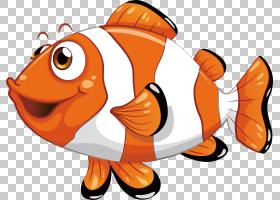 版税,鱼,条纹小丑鱼PNG剪贴画食品,海鲜,动物,摄影,橙色,脊椎动物