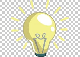 白炽灯泡卡通电灯,卡通灯泡PNG剪贴画玻璃,生日快乐矢量图像,灯,