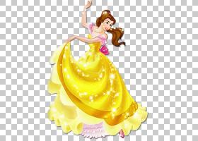 白雪公主Belle Ariel公主极光野兽,精美公主,美女与野兽PNG剪贴画