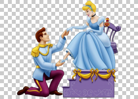 白马王子灰姑娘拖鞋继母迪士尼公主,cindrella PNG剪贴画卡通,虚