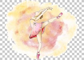芭蕾舞海报表演,芭蕾舞女郎PNG剪贴画时尚女孩,时尚插画,卡通,女