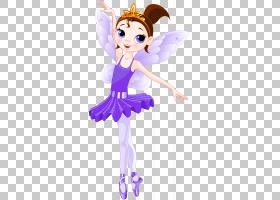 芭蕾舞演员童话,童话PNG剪贴画紫色,紫罗兰色,脊椎动物,卡通,虚构