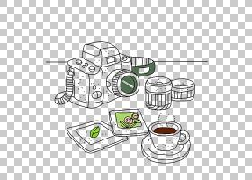 表线艺术卡通绘图,数码相机PNG剪贴画家具,文本,矩形,数字,相机图
