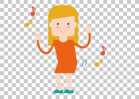 Adobe Illustrator,歌唱女孩PNG剪贴画孩子,时尚女孩,手,橙色,蹒