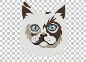 Ragdoll Whiskers小猫今天狗,白猫卡通动物材料PNG剪贴画卡通人物