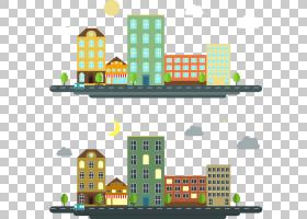 Apartment House Gratis,白天夜间公寓PNG剪贴画食品,建筑,城市,