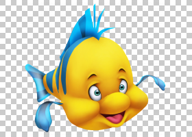 Ariel米老鼠宫殿剧院在戴尔,小美人鱼比目鱼,迪士尼比目鱼PNG剪贴