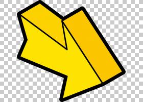 Arrow Euclidean,黄色实心箭头PNG剪贴画角度,其他,文本,矩形,三