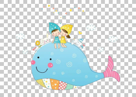 Hello Kitty儿童绘画,卡通蓝鲸PNG剪贴画水彩绘画,卡通人物,蓝色,