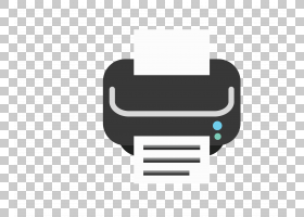 Hewlett Packard Enterprise Logo打印机图标,卡通黑白打印机徽标