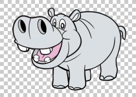 Hippopotamus content stock.xchng,Cute Hippo的PNG剪贴画白色,