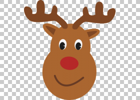 Rudolph Reindeer圣诞老人T,衬衫圣诞节,可爱的驼鹿头PNG剪贴画鹿
