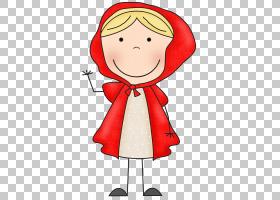 Big Bad Wolf Goldilocks和三只小红帽,Little Red的PNG剪贴画儿