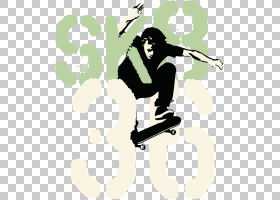 Board Skateboarding,滑板PNG剪贴画运动,运动器材,卡通,黑色,体