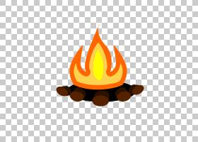 Smore篝火营火万圣节,篝火透明PNG剪贴画摄影,橙色,卡通,派对,露