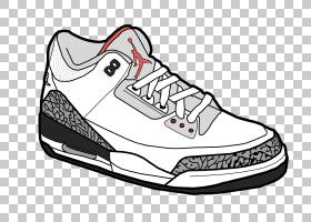 Jumpman Air Jordan Shoe运动鞋,卡通鞋PNG剪贴画白色,basketball