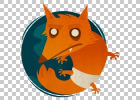 Carnivoran脊椎动物卡通,Firefox,Firefox PNG剪贴画哺乳动物,食