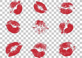 Lip Kiss Euclidean Red,唇膏PNG剪贴画爱情,杂项,底纹,污迹唇膏,