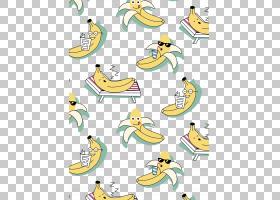 T恤连帽衫鸭香蕉,可爱的卡通香蕉PNG剪贴画卡通人物,儿童,文本,脊