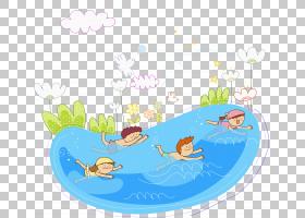 Ub450ub958 uc218uc601uc7a5韩国国家体育节游泳,儿童游泳PNG剪贴