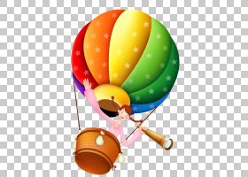 Ud569uc815ucd08ub4f1ud559uad50热气球学习,卡通女孩热气球看望