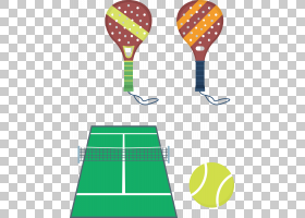 Tennis Padel球拍,网球拍PNG剪贴画运动,草,生日快乐矢量图像,卡