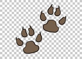 Dog Bear Paw,Bear Paw打印PNG剪贴画棕色,动物,爪子,打印,卡通,