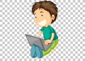 便携式计算机,播放计算机男孩PNG剪贴画孩子,手,摄影,阅读,计算机