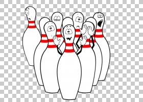 保龄球,搞笑保龄球的PNG剪贴画游戏,白色,文本,手,卡通,关节,线,