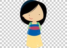 Fa Mulan Rapunzel Belle Pocahontas迪士尼公主,可爱的女孩PNG剪