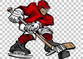 冰上曲棍球球员卡通曲棍球棒,玩男人PNG剪贴画画,摄影,手,人,业务