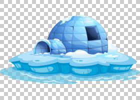冰屋卡通股票,北极冰屋PNG剪贴画蓝色,房屋,royaltyfree,冰屋凉爽