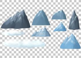 冰山卡通绘图,卡通横幅,冰山PNG剪贴画卡通人物,蓝色,景观,石头,
