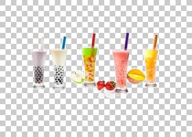 冰淇淋冰茶奶昔冰沙,手绘果汁PNG剪贴画水彩画,咖啡馆,茶,泡茶,健