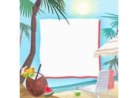 夏天椰子树海滩背景图片