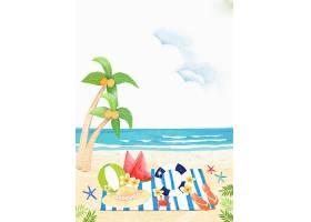 夏天海滩度假休闲背景图片