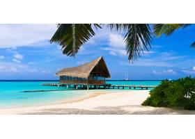 夏天海滩度假屋背景图片